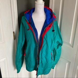 VINTAGE RETRO teal Columbia sportswear raincoat